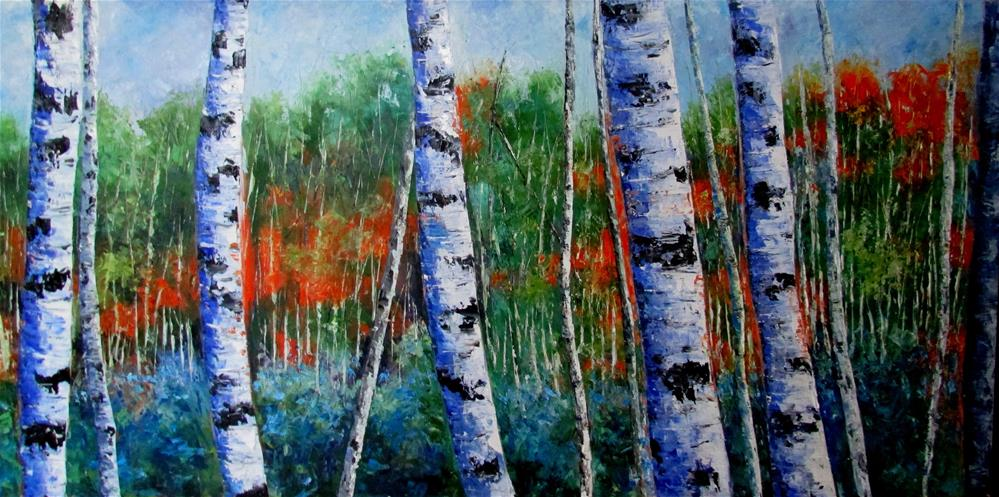 """24 x 48 inch oil"" original fine art by Linda Yurgensen"