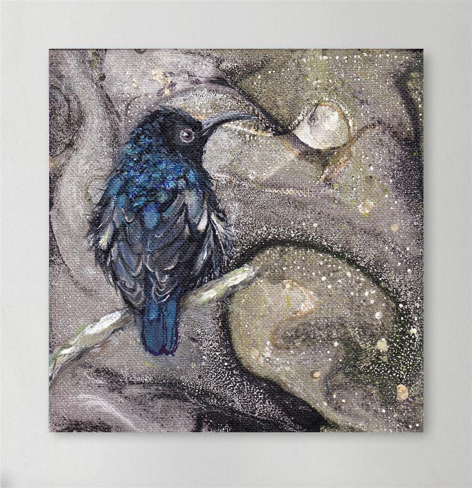 """Sunbird in Breeding Plumage"" original fine art by Sunny Avocado"