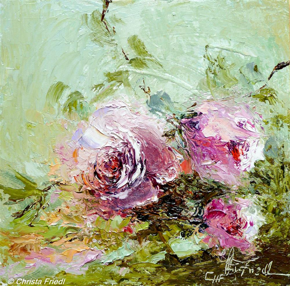 """Rosen I – Roses I"" original fine art by Christa Friedl"