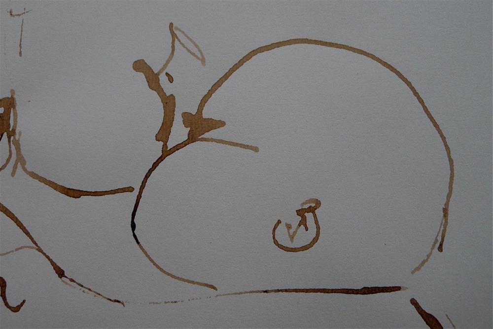 """Baby - drinking"" original fine art by Ulrike Schmidt"