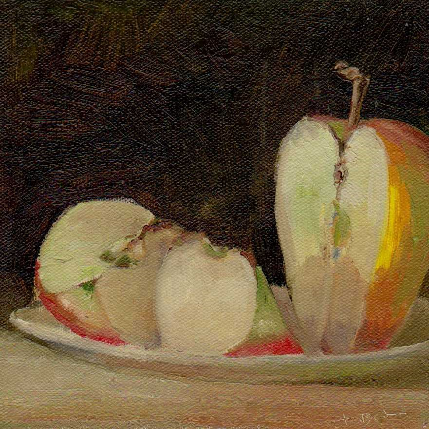 """apple"" original fine art by Mark DeBak"