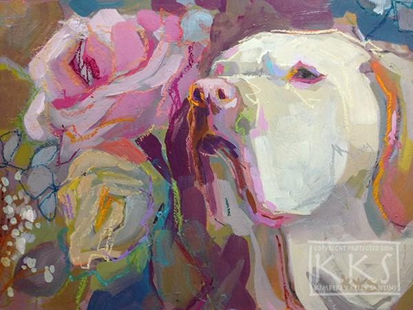 """Rosie's Posey"" original fine art by Kimberly Santini"