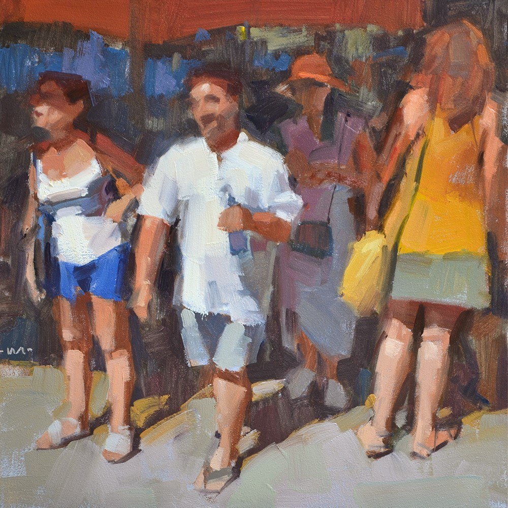"""Part of the Crowd"" original fine art by Carol Marine"
