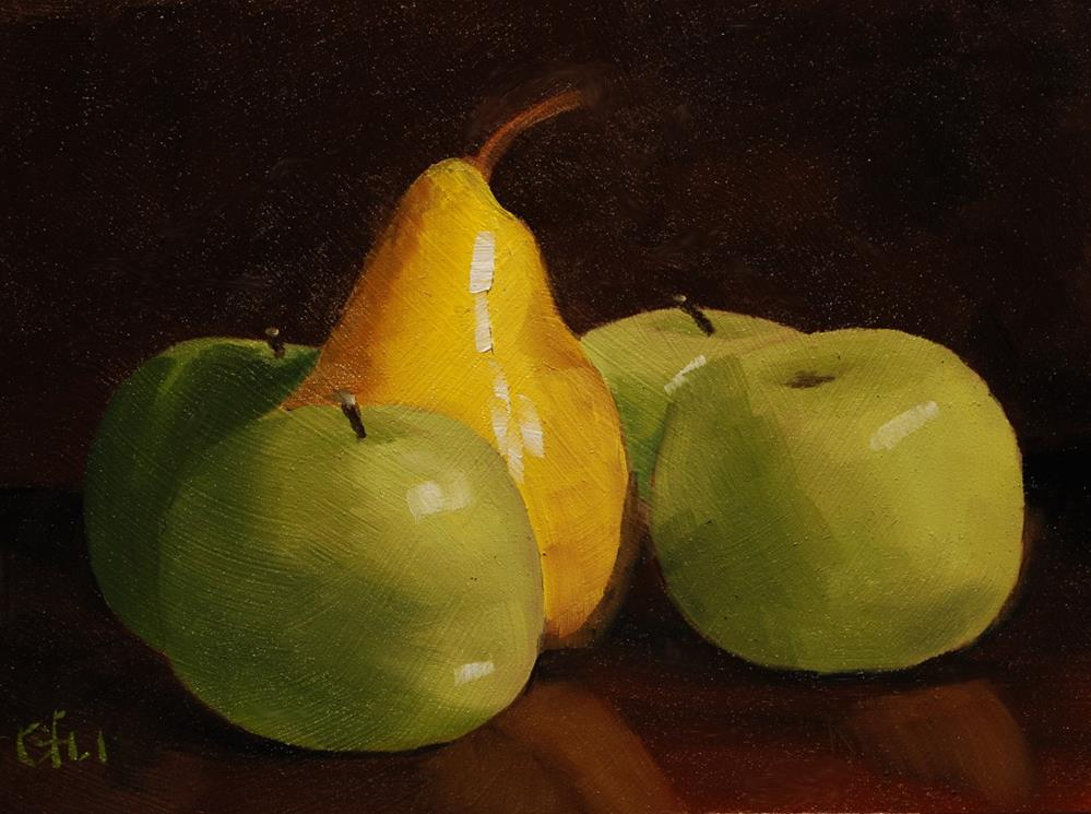 """""""Pear and Apples"""" original fine art by Gary Westlake"""