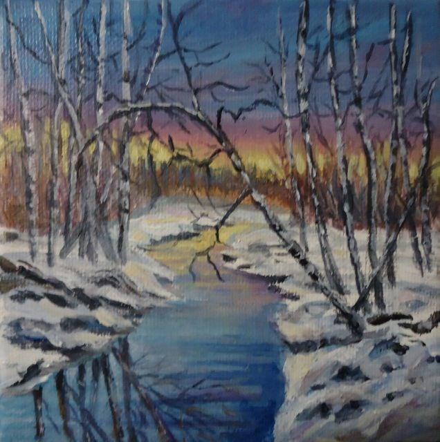 """Evening Reflections 2014"" original fine art by Jackie Irvine"