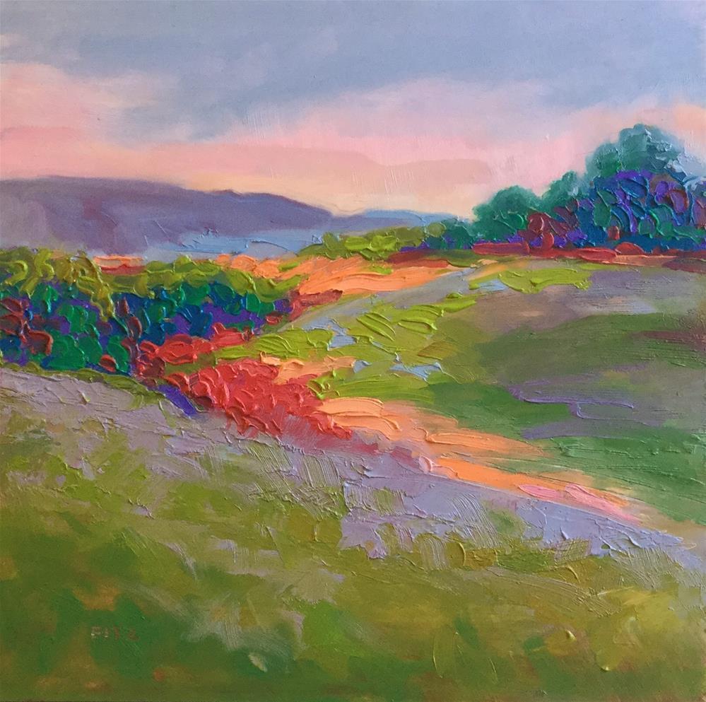 """Impasto Landscape Study 5"" original fine art by Charlotte Fitzgerald"