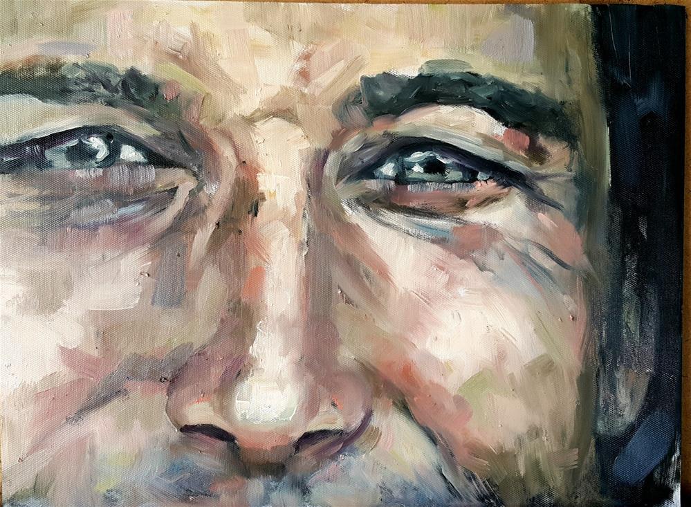 """pensive"" original fine art by Rentia Coetzee"