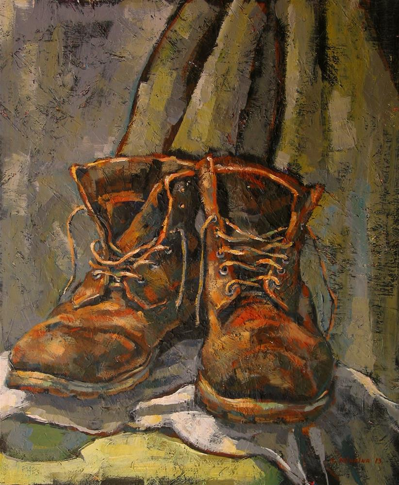 """""""Artist's Boots"""" original fine art by Katya Minkina"""