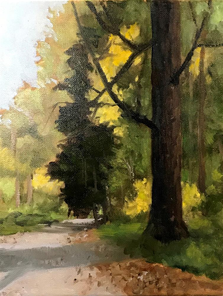 """Fall Brook Road"" original fine art by Betty Argiros"