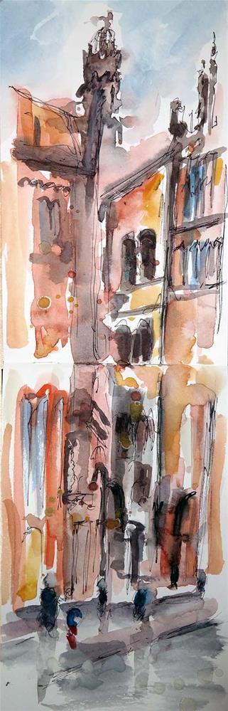 """1295 Karmarsch Street"" original fine art by Dietmar Stiller"