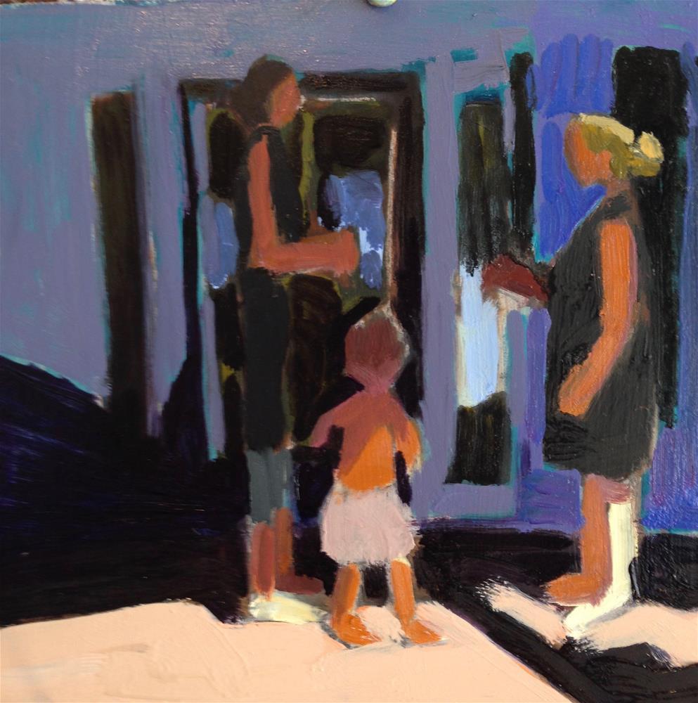 """Mothers Porch Convo"" original fine art by Pamela Hoffmeister"