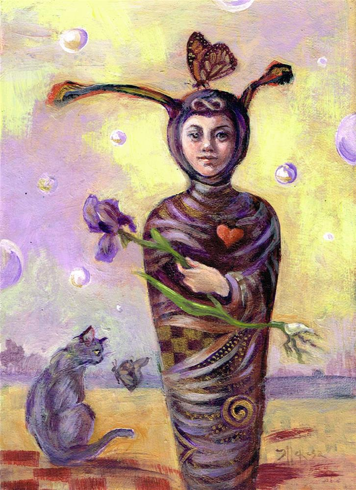 """Fairy Chrysalis"" original fine art by Theresa Taylor Bayer"