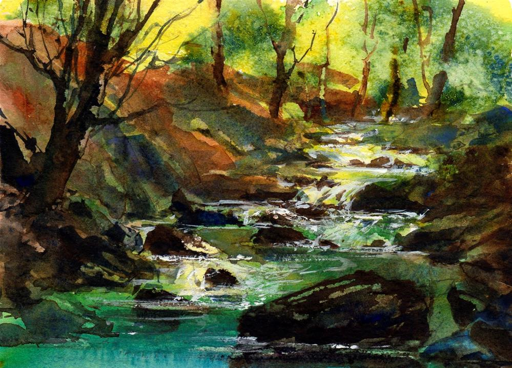 """Through the Woods"" original fine art by Linda Henry"