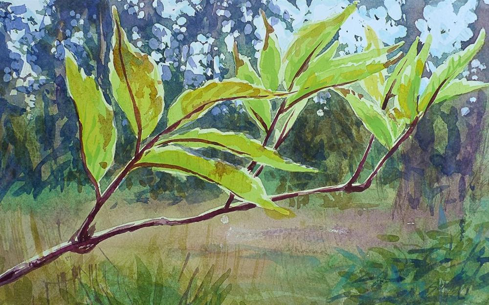 """The Branch"" original fine art by Elena Senina"