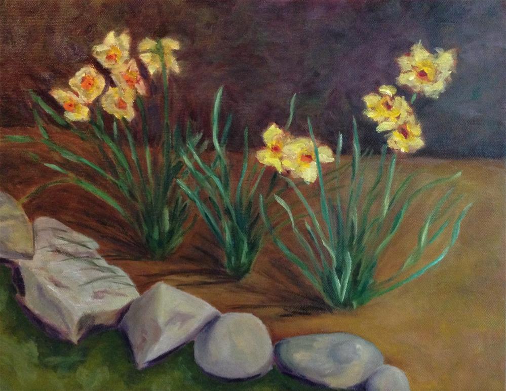 """Spring Blooms"" original fine art by Karen Collins"
