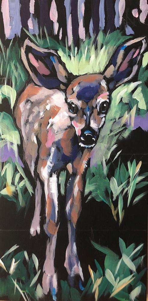 """Good Morning, Deer!"" original fine art by Kat Corrigan"