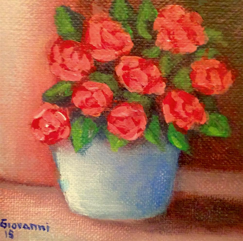 """Roses"" original fine art by Giovanni Antunez"