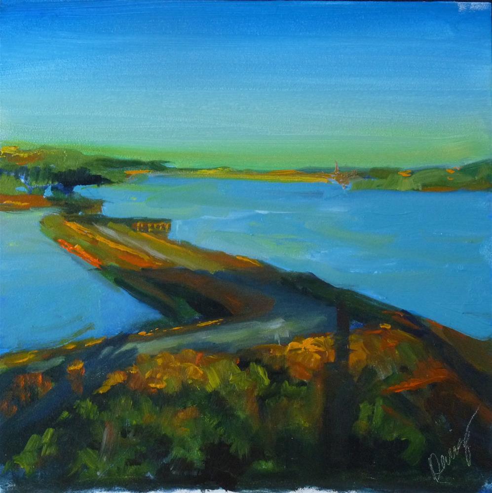 """Bridge to Paradise"" original fine art by Sharman Owings"