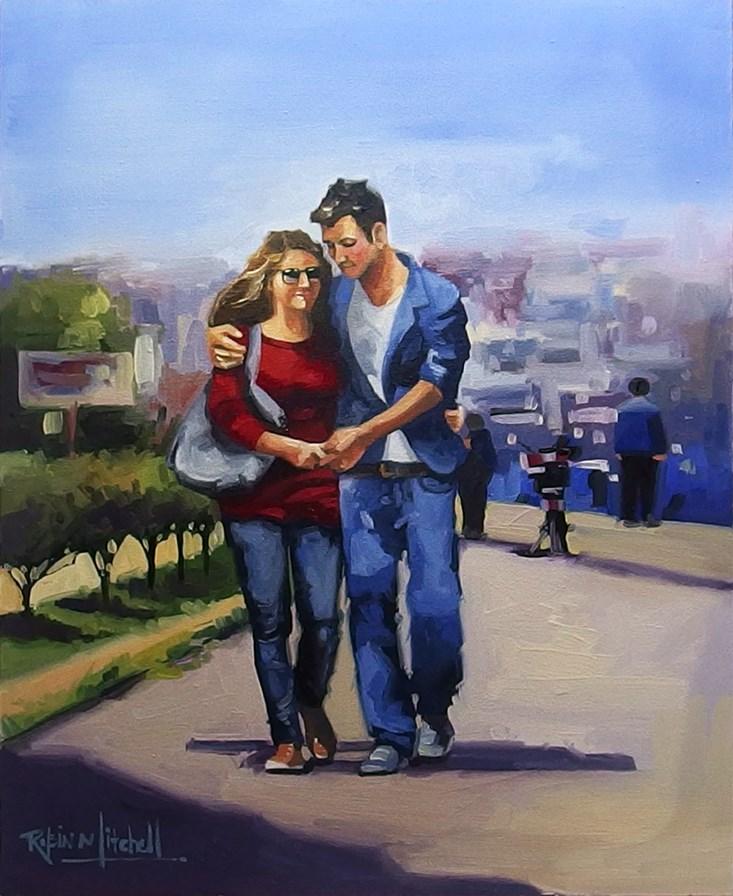 """No 841 In Love"" original fine art by Robin J Mitchell"