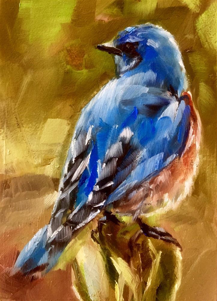 """""""Bluer Than Blue"""" original fine art by Gary Bruton"""