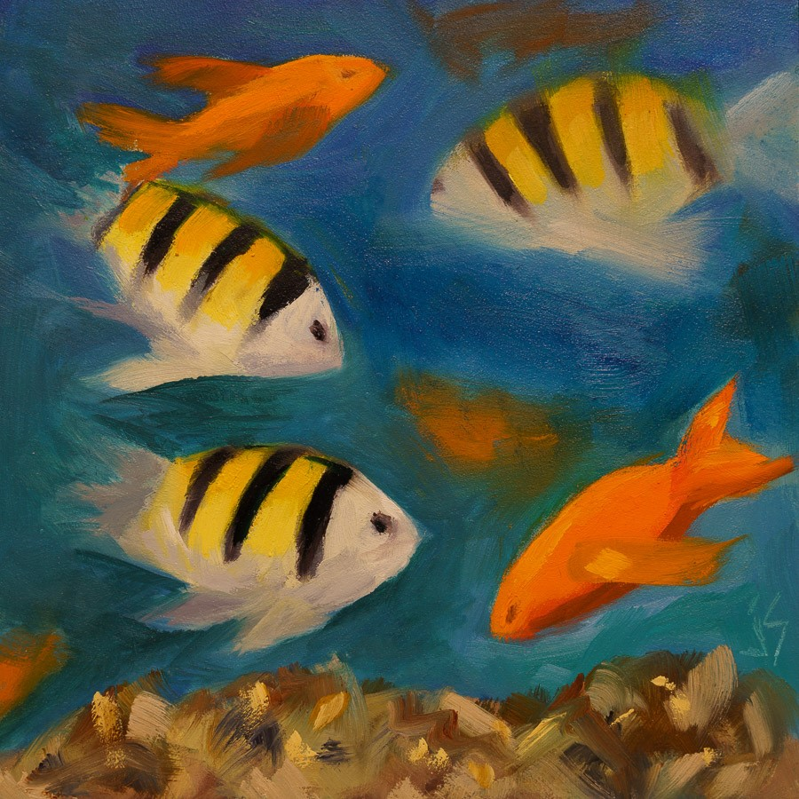 """Coral Reef"" original fine art by Johnna Schelling"