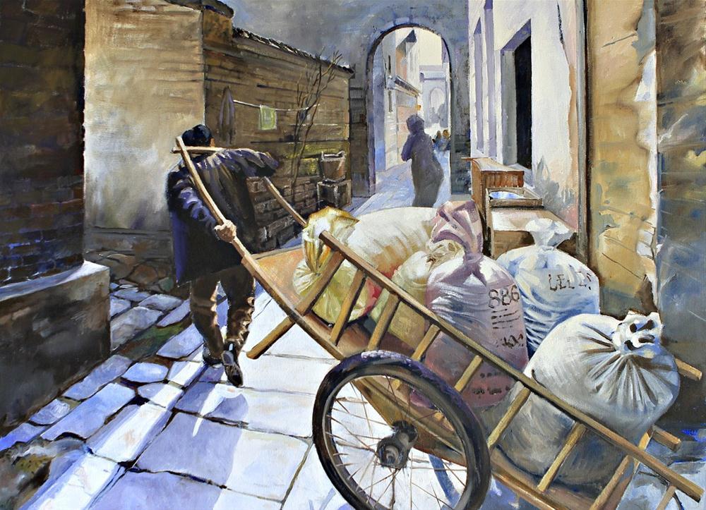 """Daily Burden"" original fine art by Shirley Peters"