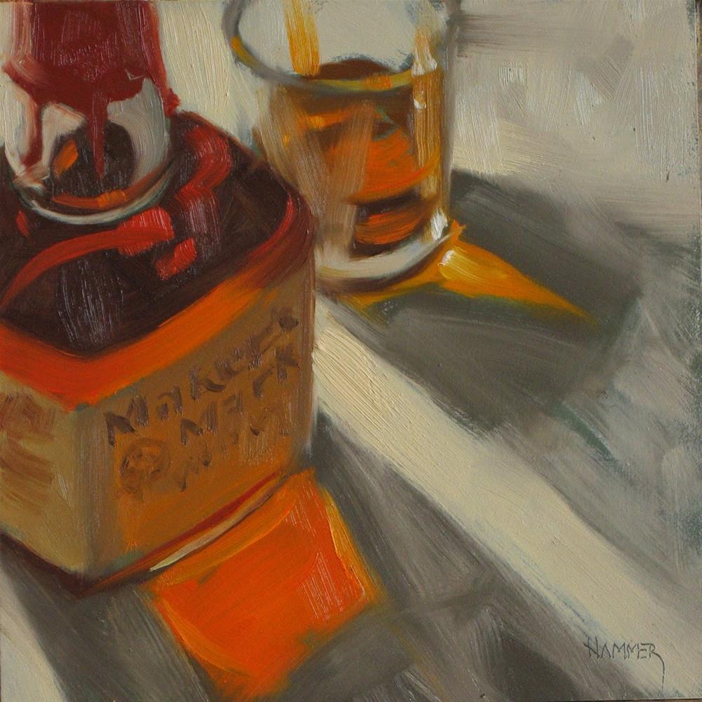 """Maker's close up  6x6 oil"" original fine art by Claudia Hammer"