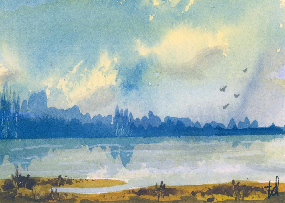 """River Glance"" original fine art by Tonya Doughty"