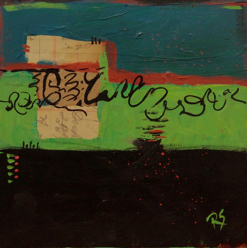 """Script and Shadows"" original fine art by Roberta Schmidt"