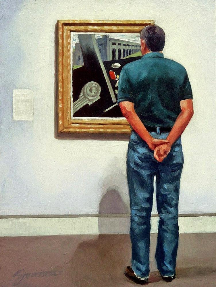 """""""Beside the Barracks--Painting People in Museum/Gallery Series"""" original fine art by Joanna Bingham"""