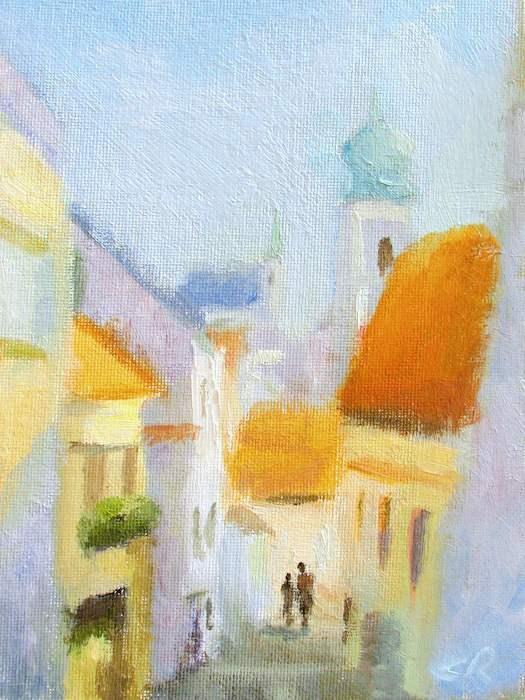 """""""Afternoon in Cesky Krumlov"""" original fine art by Keiko Richter"""