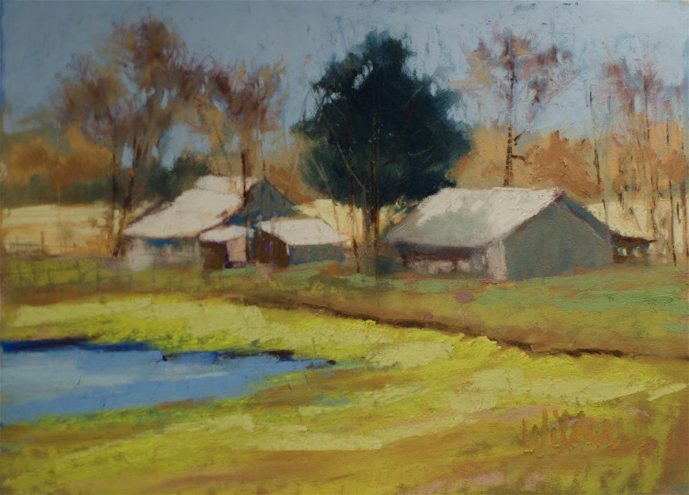"""Barns"" original fine art by Judy Wilder Dalton"
