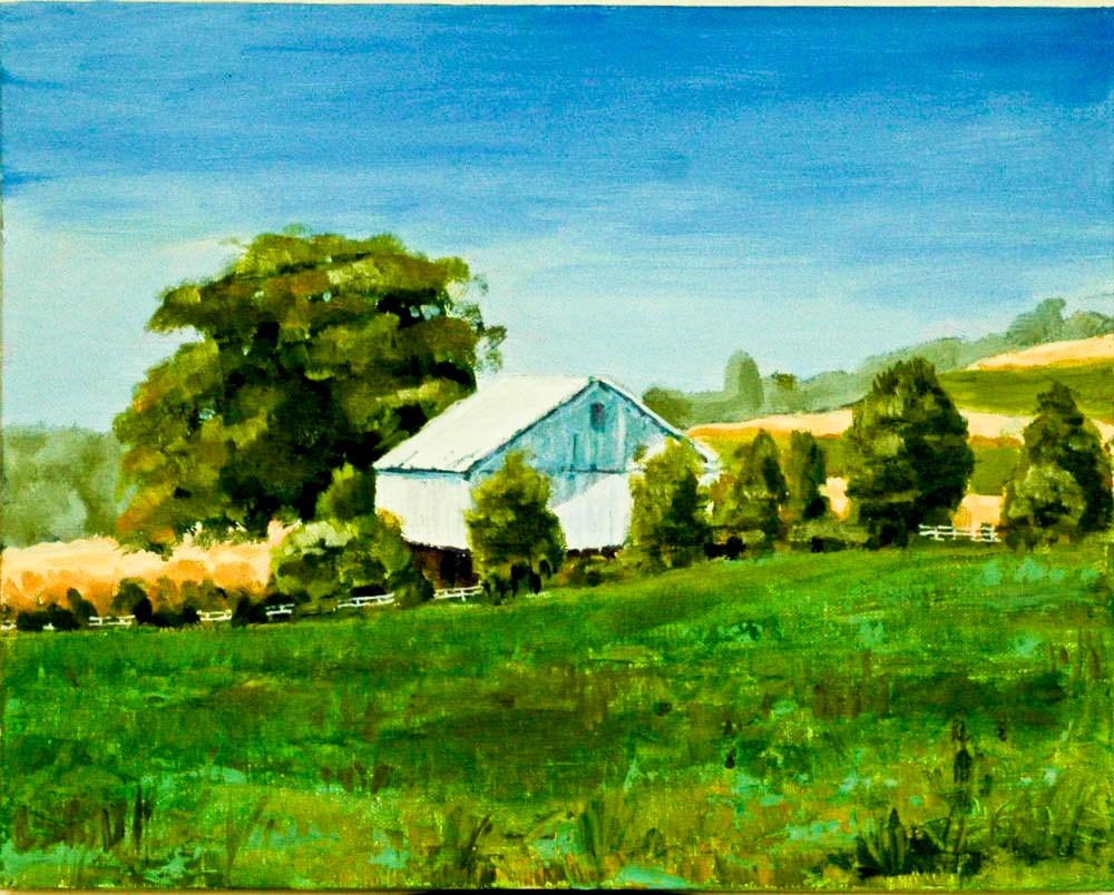 """""""Scottdale Barn"""" original fine art by Ted Michaelis"""