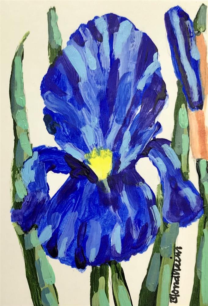 """Iris Blossom"" original fine art by Linda Blondheim"