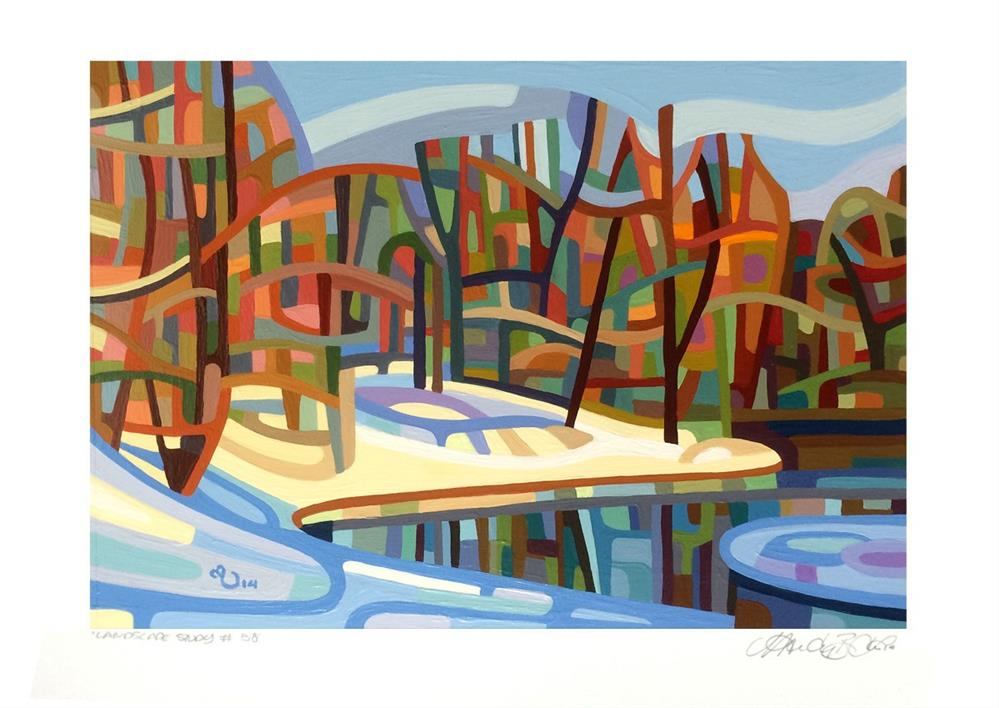 """Landscape Study #58"" original fine art by Mandy Budan"