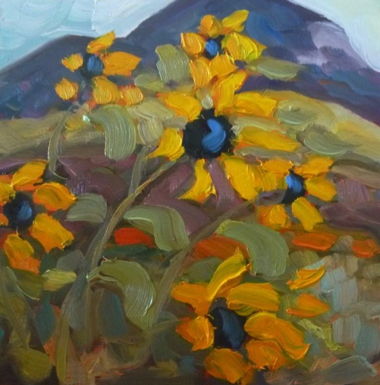 """""""50 SUNS WITH EL SALTO"""" original fine art by Dee Sanchez"""