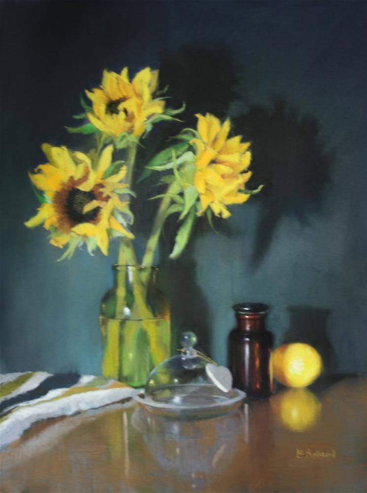 """Sunflowers"" original fine art by Liz Balkwill"
