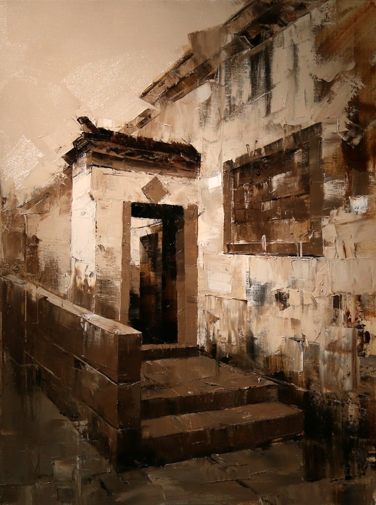 """""Xidi Doorway 4"" original fine art by Qiang Huang"