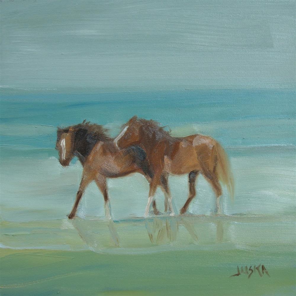 """Wild Ponies"" original fine art by Elaine Juska Joseph"