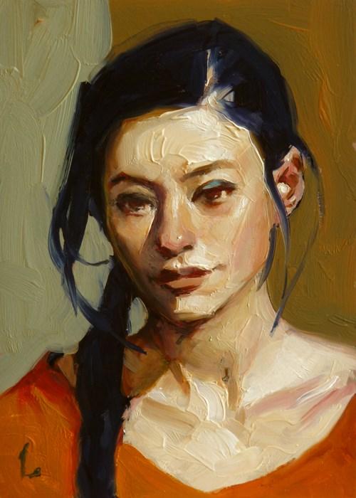 """Blue Black Braid"" original fine art by John Larriva"