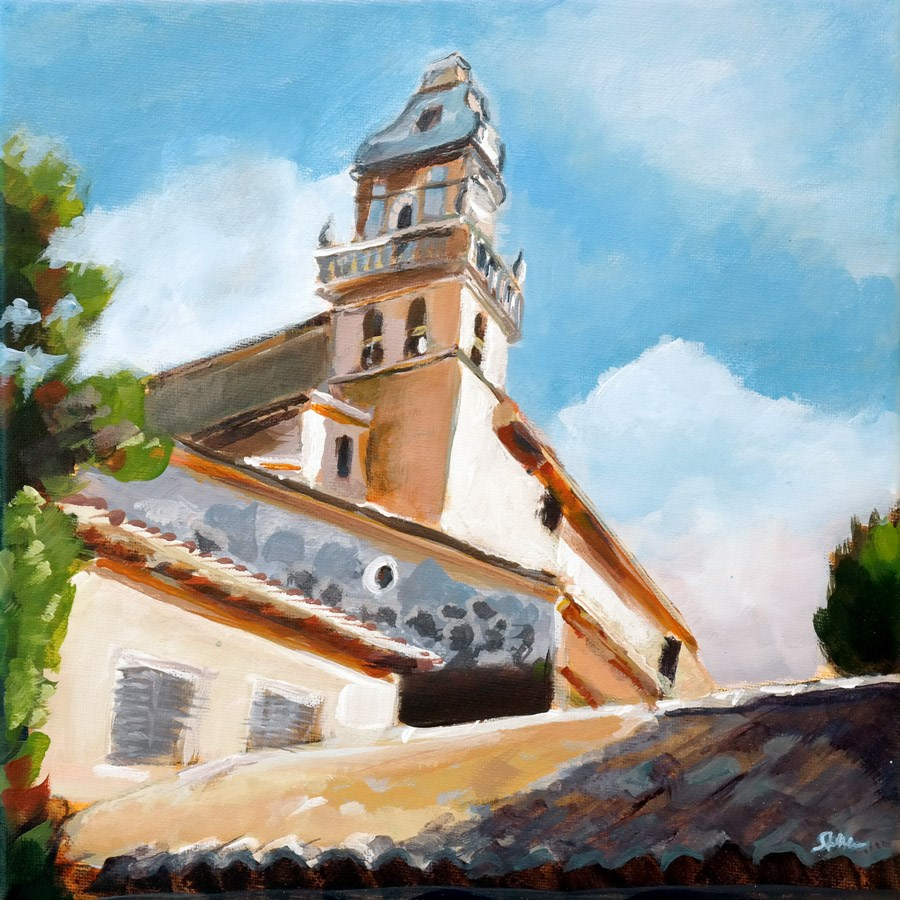 """1052 Valldemossa"" original fine art by Dietmar Stiller"