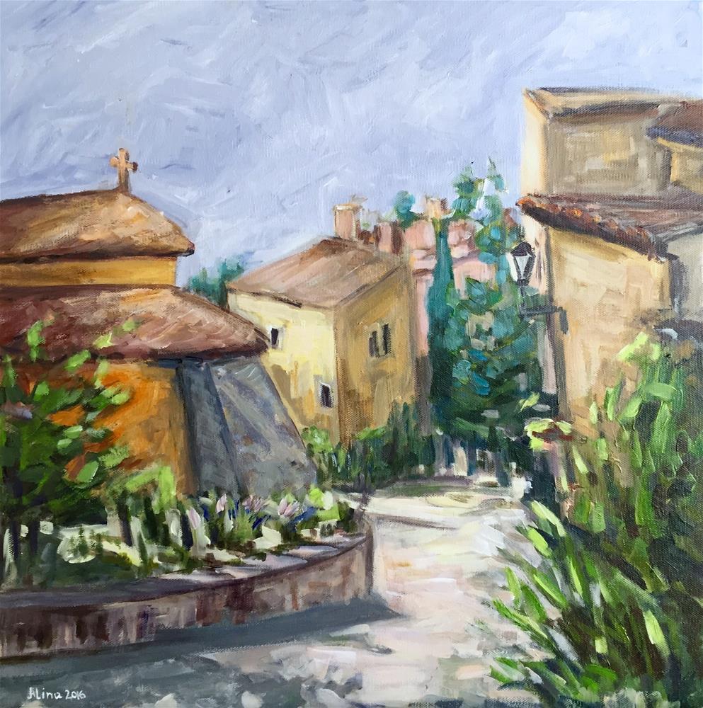"""""""Street in Roussillon"""" original fine art by Alina Vidulescu"""