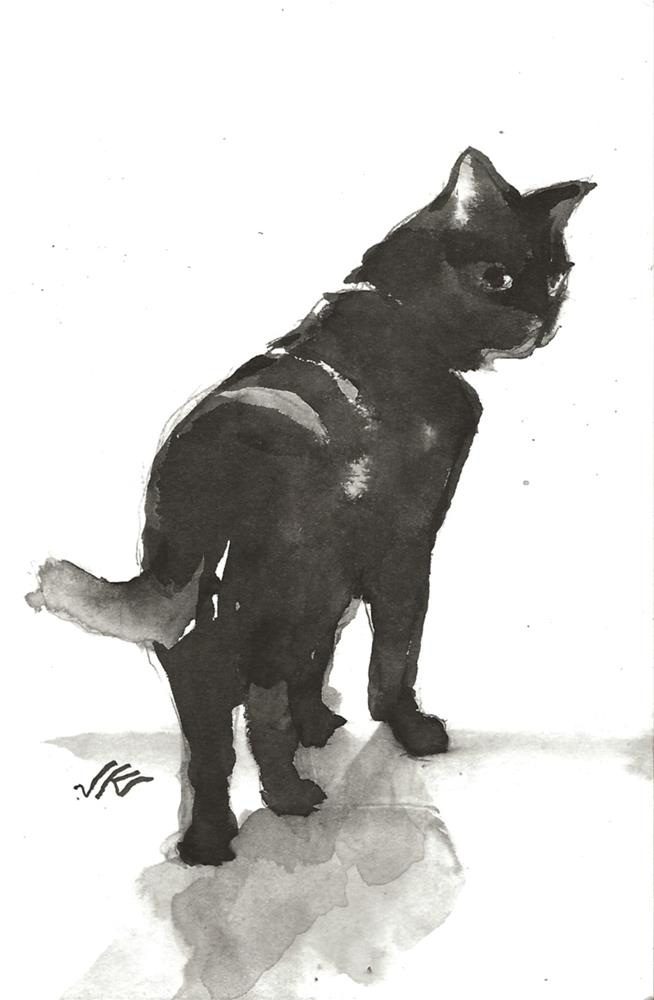 """Daily Cat 101"" original fine art by Jean Krueger"