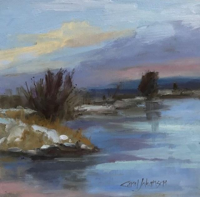 """""""Snake River Freeze"""" original fine art by Carol Johansen"""
