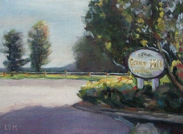 """Welcome to Grassy HIll"" original fine art by Linda Marino"