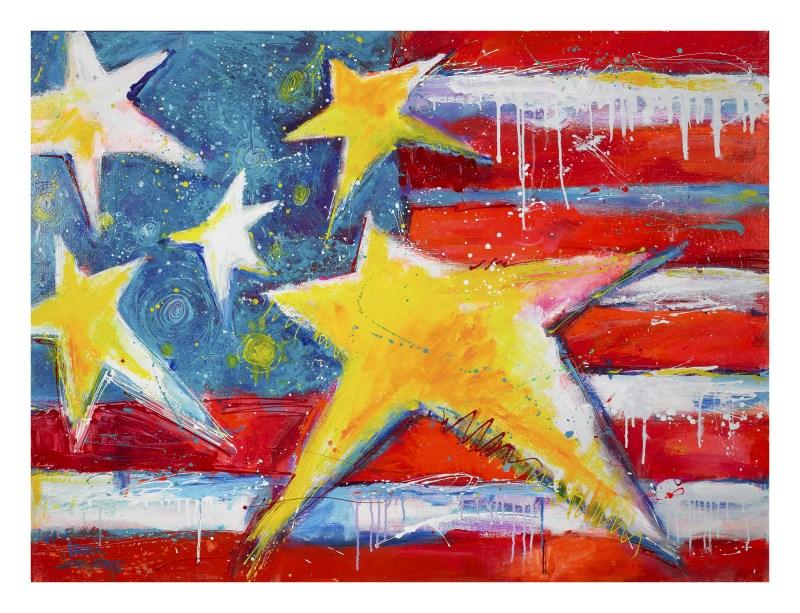 """Honor, Love, Country"" original fine art by Leoma Lovegrove"