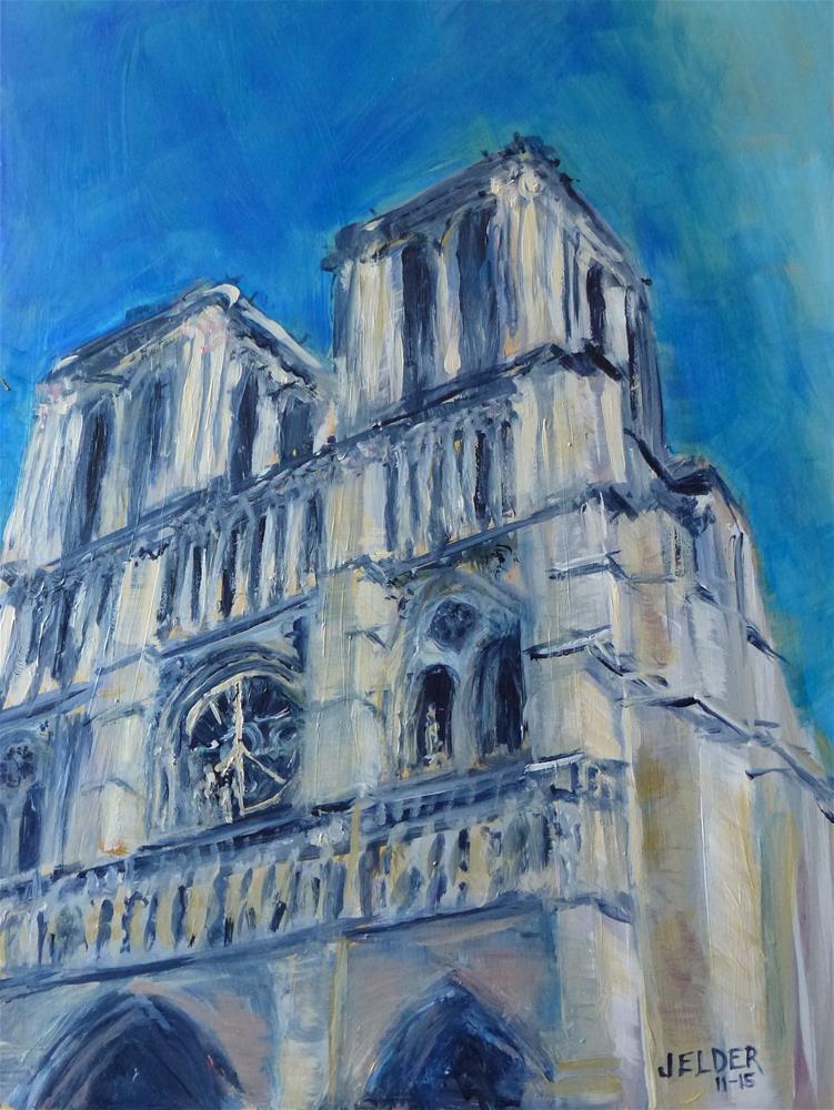 """""""For Paris, Paris No. 97"""" original fine art by Judith Elder"""