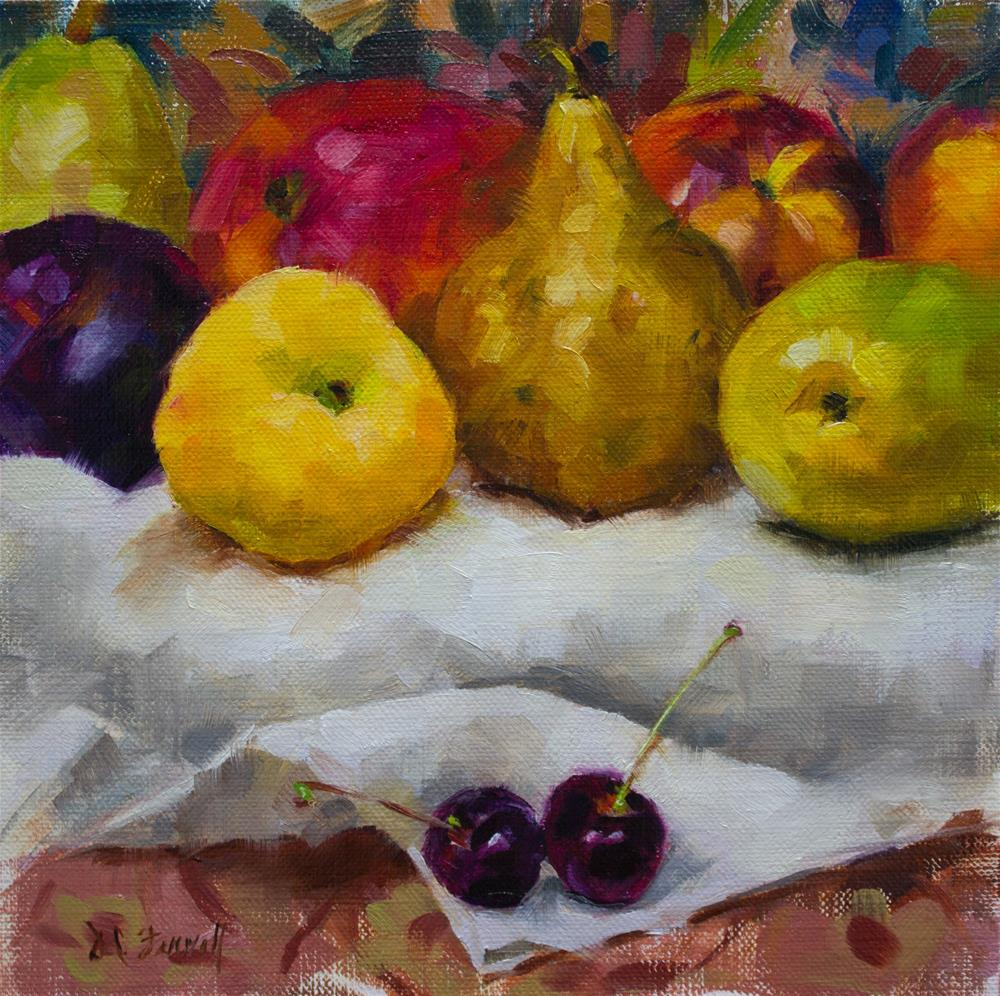 """Mixed Fruit #2"" original fine art by Donna C Farrell"