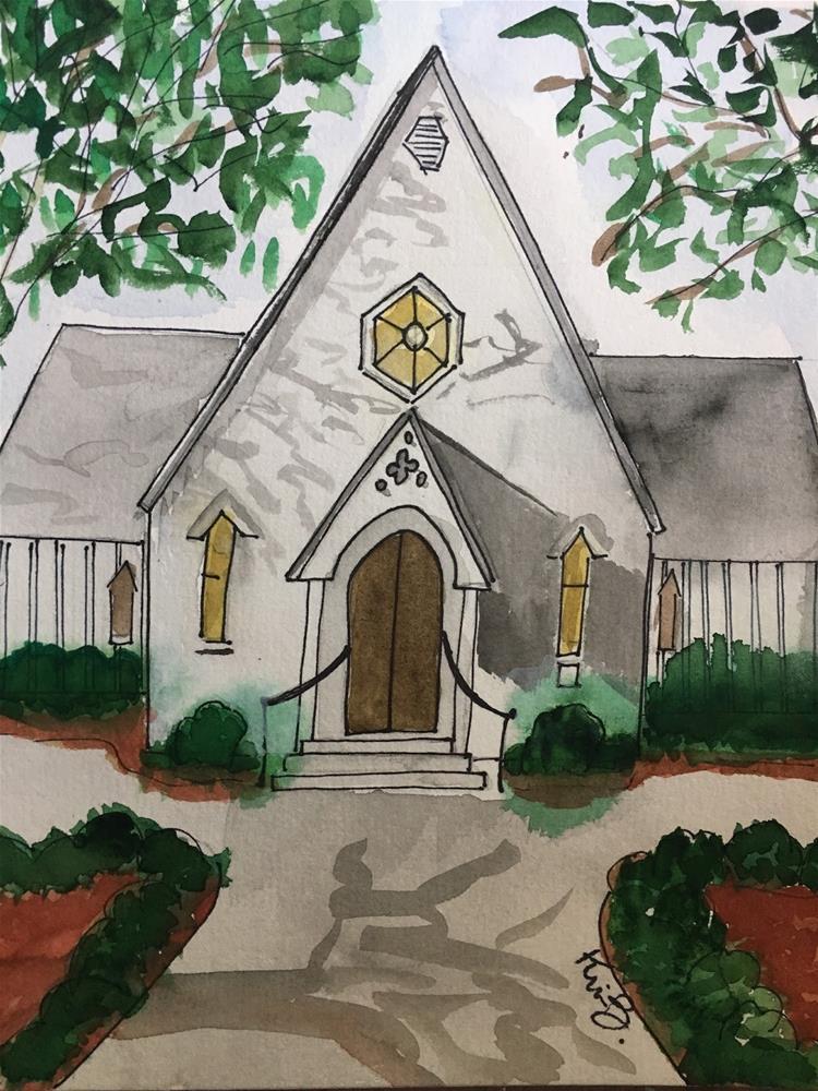 """# 12 - 30 in 30  St. Mary's Chapel"" original fine art by Kimberly Balentine"