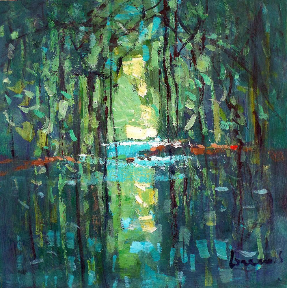 """green reflection"" original fine art by salvatore greco"